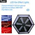 2 шт./лот LED Fan Effect Light 504 шт. rgb 3в1 DJ оборудование диско-шар для вечеринки бар светящийся танцевальный клуб сценический эффект
