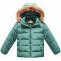 Winter Children Boys Down Jacket Hooded Thick Regular Sold Kids Clothes Coat  Keep Warm Snow Coat Winter Outwear Jacket dj023