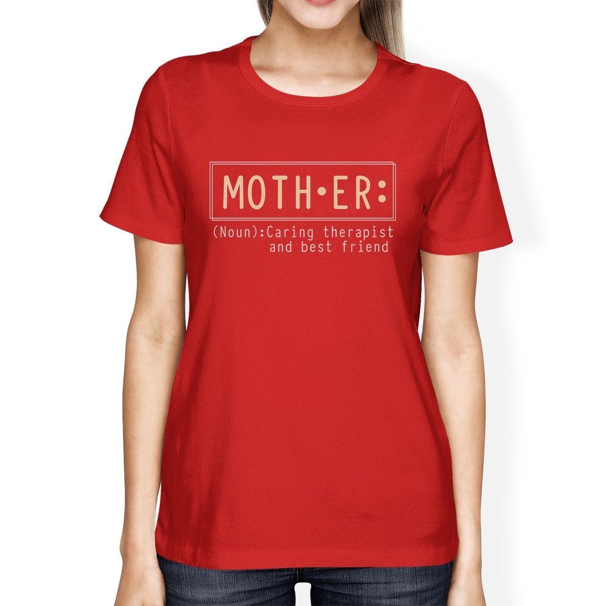 Мать терапевт женская красная футболка День матери подарок от дочери с принтами Топы корректирующие Популярные Футболки для девочек панк Т...