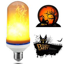 Halloween Party Decorative LED Flame Lamps Fire Effect Light Bulb 7W E26 E27 Creative Flickering Emulation Atmosphere Flame Lamp(China)