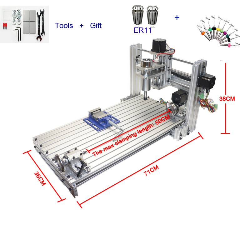 CNC Milling Drilling Machine DIY 3060 400W CNC Router Wood Aluminum Carving Machine 3d wood carving cnc router machine price