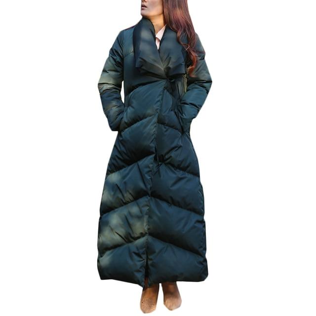 Пух длинная куртка зимняя теплая парка зимняя длинная куртка женская утепленная пальто 95% белая верхняя одежда на утином пуху пальто Для женщин Пух куртка