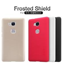 100% оригинальный бренд NILLKIN жесткий протектор чехол для Huawei Honor 5X Frosted Shield для хорнор 5X Бесплатная доставка