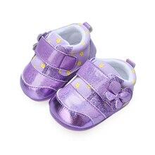 Новое Прибытие Кожа Лоскутное Bling Твердой Подошве, Детская Frewalk Спортивная Обувь Для Девочек 0-15 Месяцев