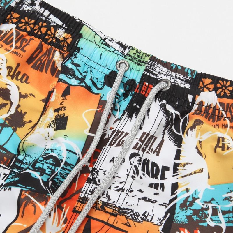 QIKERBONG Pantallona të shkurtra plazhi për burra Bordi i boksit - Veshje për meshkuj - Foto 3