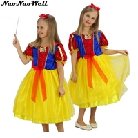 Halloween Cosplay Costume Children Snow White Fancy Dress Sets Girl's Mermaid Stage Performance Princess Dress with Headgear
