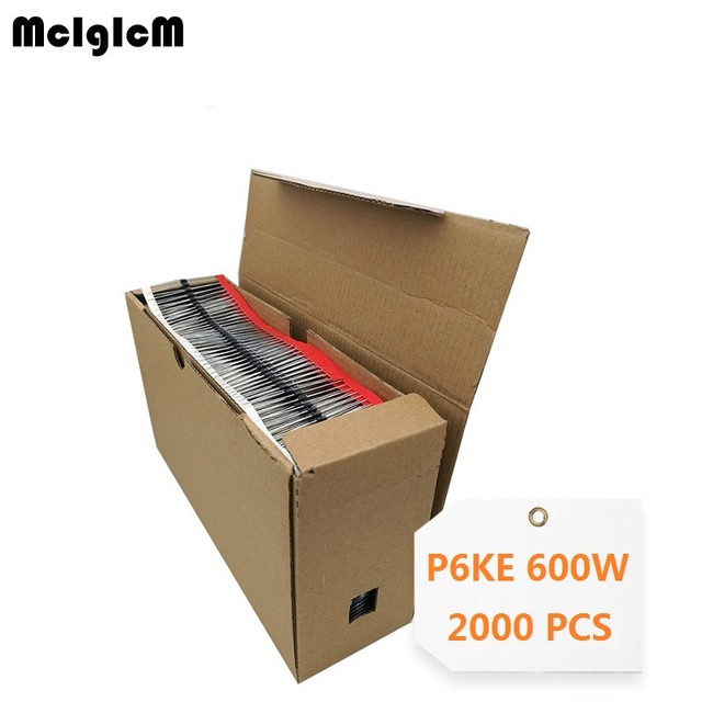 Mcigicm 2000 個 600 ワット日曜 15 tvs ダイオード P6KE6.8A P6KE7.5A P6KE8.2A P6KE9.1A P6KE10A P6KE11A P6KE12A P6KE13A P6KE16A P6KE18A p6KE20A