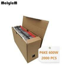 Mcigicm 2000 Pcs 600W Doen 15 Tvs Diode P6KE6.8A P6KE7.5A P6KE8.2A P6KE9.1A P6KE10A P6KE11A P6KE12A P6KE13A P6KE16A P6KE18A p6KE20A