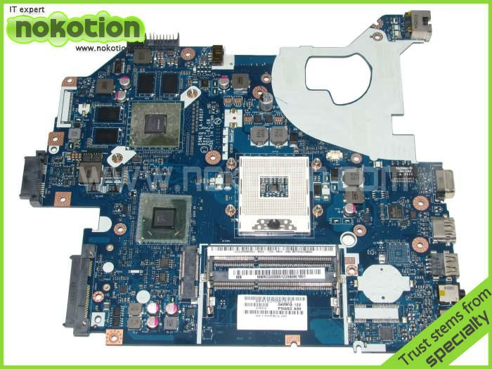 NOKOTION For Acer Aspire 5750 Laptop Motherboard P5WE0 LA-6901P Mainboard MBRCG02005 MB.RCG02.005 Mother Board nokotion laptop motherboard for acer 5742 nv55c la 6582p intel hm55 integrated ddr3 mother board high quality