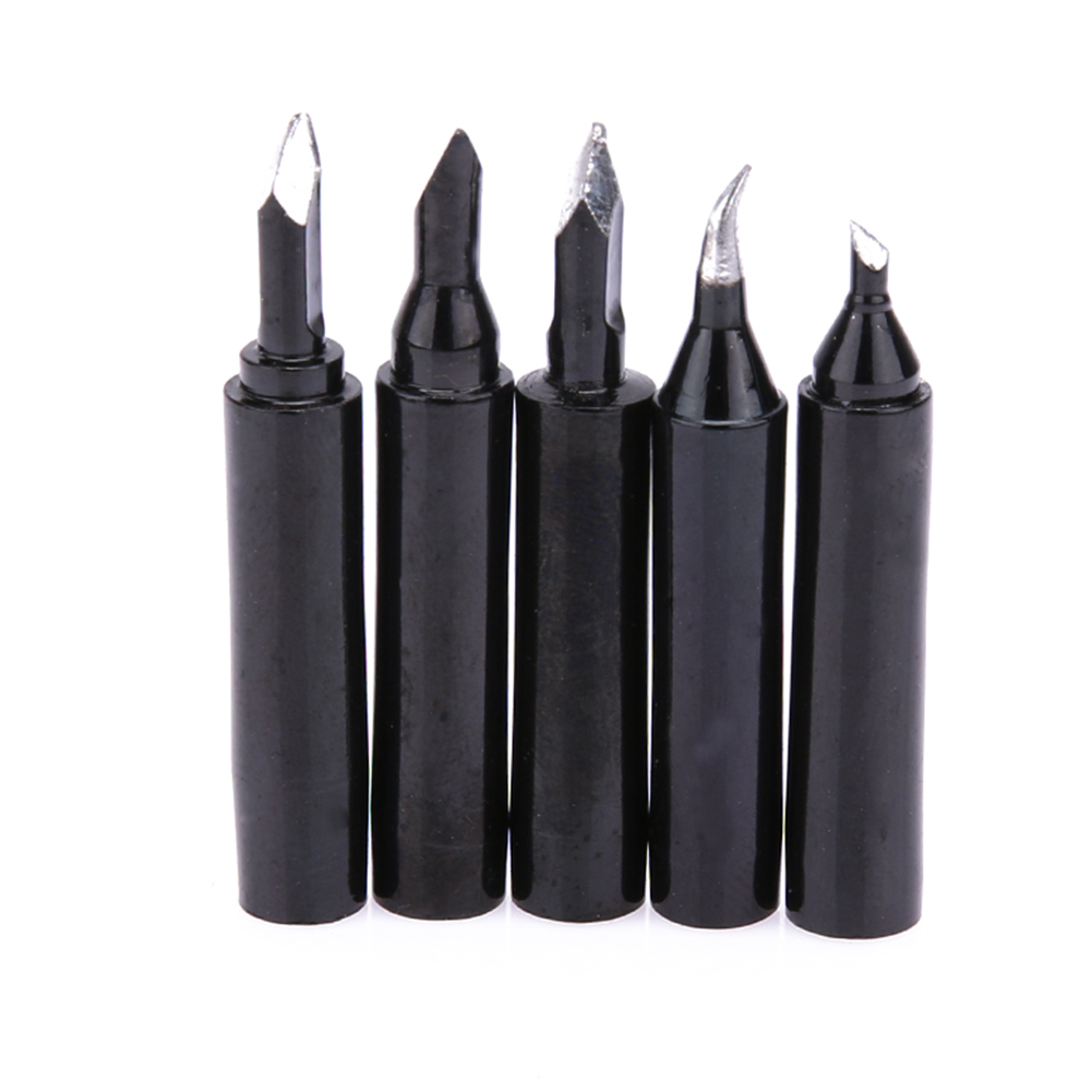 5 Pieces 936 Solder Tip Lead-free Soldering Iron Head Scraping Gun Tin Welding Head Repair Tool High Heat Capacity Red Copper free shipping desoldering gun 842a 220v 30w suction tin soldering iron 2 in 1 electric suction tin tip tong acupuncture