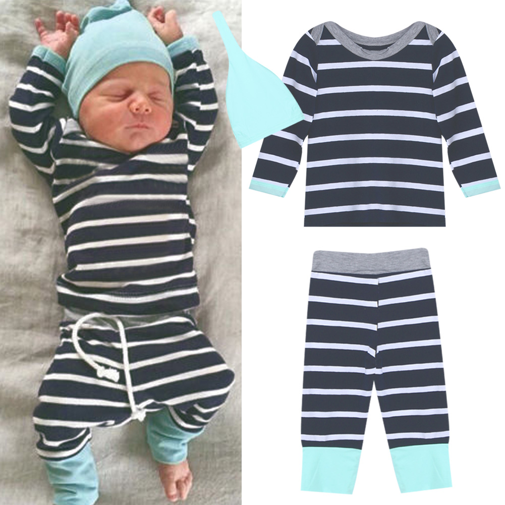 c034e2be47dbf Toddler Baby Boy Clothing Sets Spring Hats+T Shirts+Pants 3pcs Newborn Baby  Boy Clothes Sets Christmas Toddler Boy Clothes Set-in Clothing Sets from ...