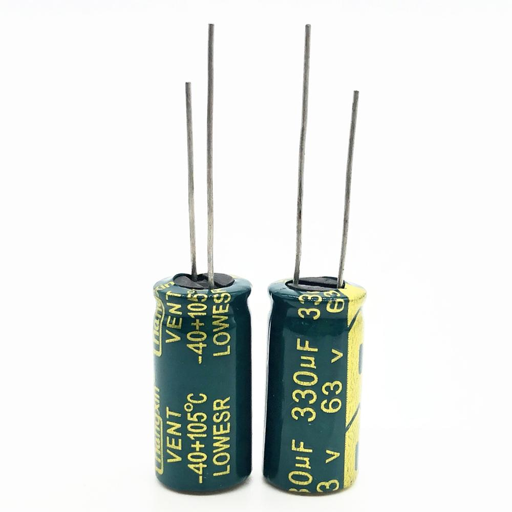 63V 330UF 10*20 High Frequency Low Impedance Aluminum Electrolytic Capacitor 330uf 63V 20%