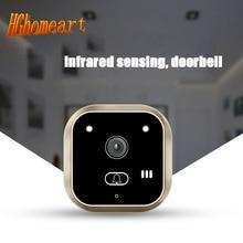 Hghomeart Champagne Gold интеллектуальный HD видео звонок человека инфракрасного ночного видения фото функция записи