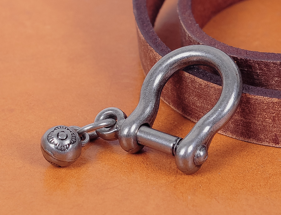 5 Pcs Vintage Silver Shackle Joint Connect Key Chain Hook Leathercraft Hardware