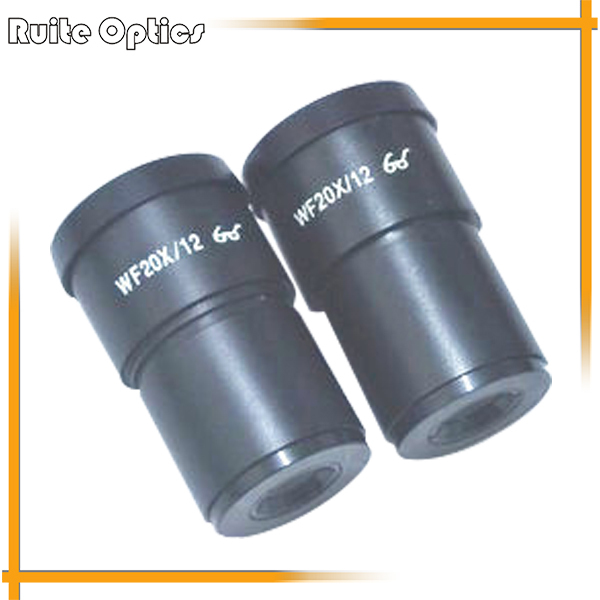 WF20X 12mm Zoom Stereo Microscope Wide Angle Eyepiece High Eye-Point Optical Lens Mounting Size 30mm 20x monocular stereo microscope with 20x up right image small size 2x objective and wf10x eyepiece