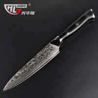GHL 5 inch damascus paring fruit knife VG10 Damasucs knives 67 layers damascus steel chef kinfe faca de cozinha