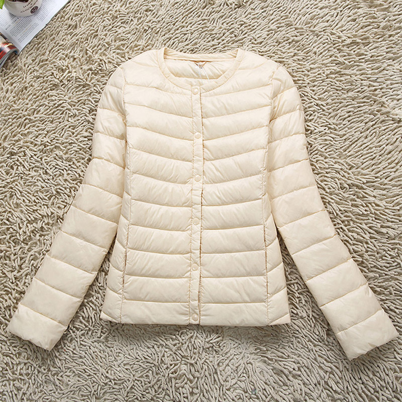 2018 New Spring Winter 90% White Duck Short Jacket Women's Ultra Light Weight   Down     Coat   Female Outerwear YP0857