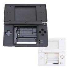 Piezas de reparación completas para Nintendo DS Lite NDSL, Kit de carcasa de repuesto, color blanco/Negro, precio de fábrica