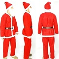 Santa Claus Men Cosplay Costumes Role-Playing Halloween Stage Performance Christmas Clothes Tops+Pants+Hat+Moustache+Belt Suit