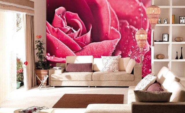 Custom 3d effect Rose photo 3d papel de parede useage living room 3d ...