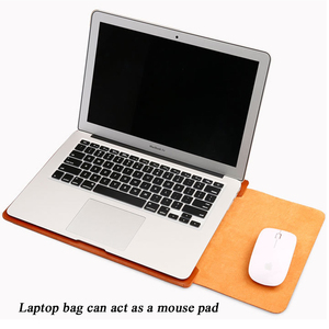 Image 5 - Notebook Case Mouse Pad Pouch For Xiaomi Macbook Air 11.6 12 13 Cover Retina Pro 13.3 15 15.6 Fashion Laptop Sleeve Leather Bag