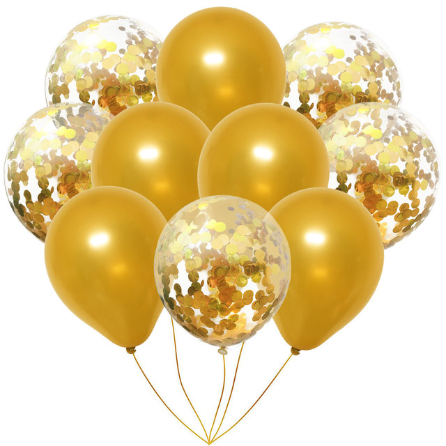 Mix Latex Balloons with Confetti 10 pcs Set