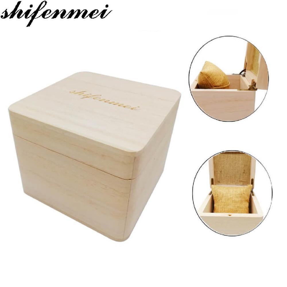 Shifenmei Customizable Wooden Watch Box Case for Clock Watches Professional Waterproof Case Gift Box for Men's Women Wristwatch