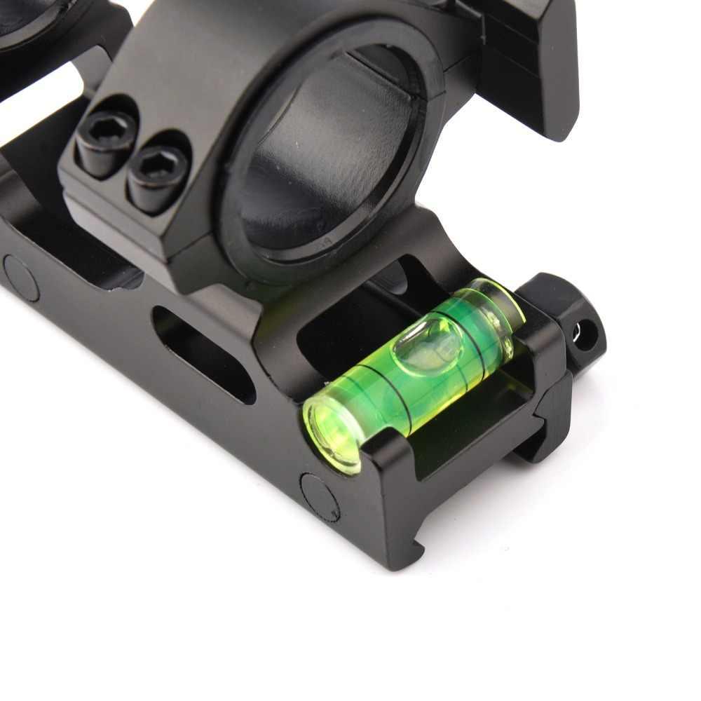 Новое тактическое кольцо-Крепление прицела диаметр 25,4/30 мм с спиртовой уровень пузырьковый кольцо для 20 мм Пикатинни Вивер пикатинная рельсовая Охота