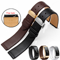 New Huawei B2 B3 Watchband 15mm 16mm Genuine Leather Watchbands Strap Bracelets with Butterfly  Buckle