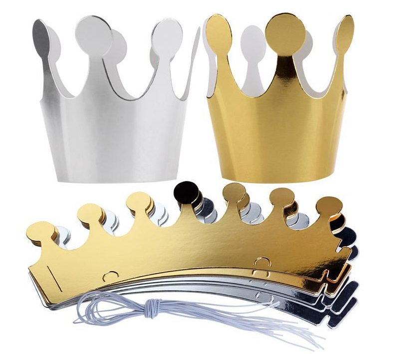 10pcs/set Gold And Silver Crown Party Celebration Birthday Hats Festive Party Photograph Decorations For Kids New Arrival