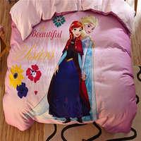 Замороженные Анна и Эльза 3D Постельное белье Обувь для девочек кровать Простыни детские покрывала мультфильм Disney шлифования хлопка теплые