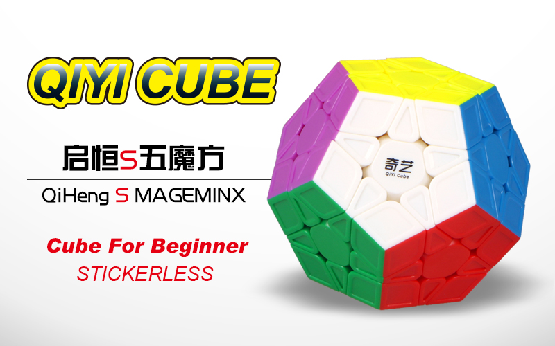 Original Qiyi Qiheng Megaminx Cube 3x3x3 Magic Speed Cube 12 Sides Cubo Magico Puzzle Speed Learning