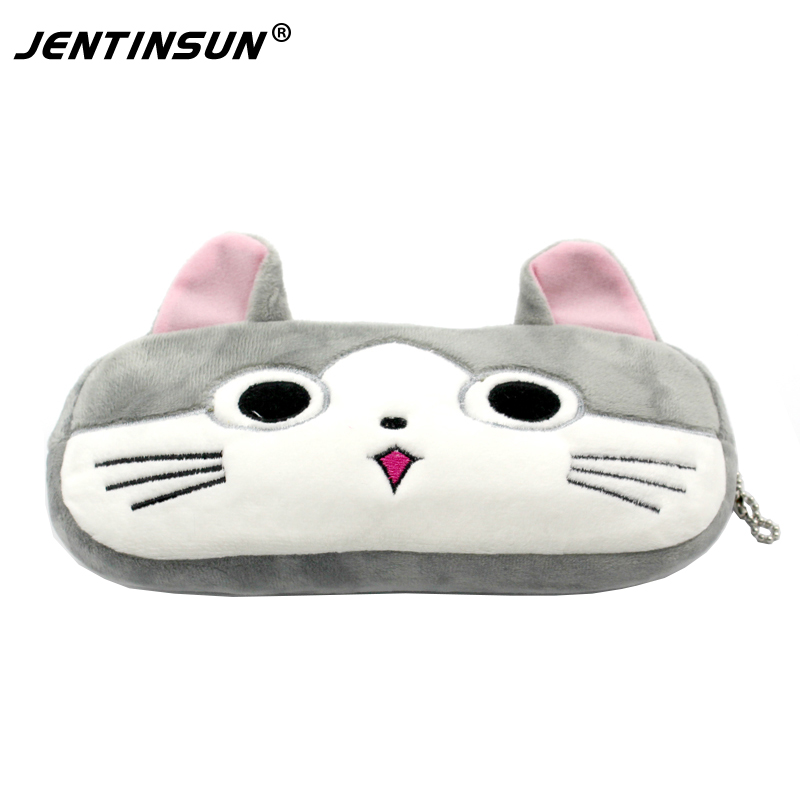 New 2017 Animal Plush Coin Purse Cute Cartoon Zipper Change Purse For Children Women Wallet Money Holder Case Small Bag For Kids 2017 new coin purses wallet ladies 3d printing cats dogs animal big face change fashion cute small zipper bag for women pouch