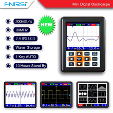 DSO FNIRSI Handheld mini portable digital oscilloscope 30M bandwidth 200MSps sampling rate IPS display hantek dso5102p digital oscilloscope portable 100mhz 2channels 1gsa s record length 40k usb lcd handheld osciloscopio 7 inch