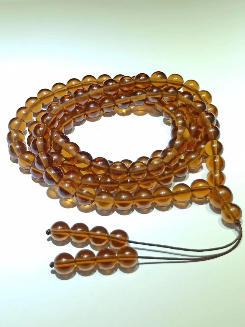 8mm Arizona Sirius meteorite impact glass 108 bead bracelet in Stones from Home Garden