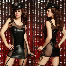 Sexy Costume Erotic Woman Police Uniform Set Lingerie Role Play Clothes for Sex Games Hot Sale