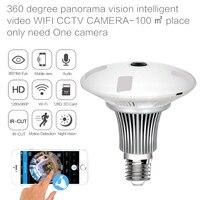 960P 360 Degree Wireless Bulb Light IP Camera Wi Fi FishEye Full View Mini CCTV Camera