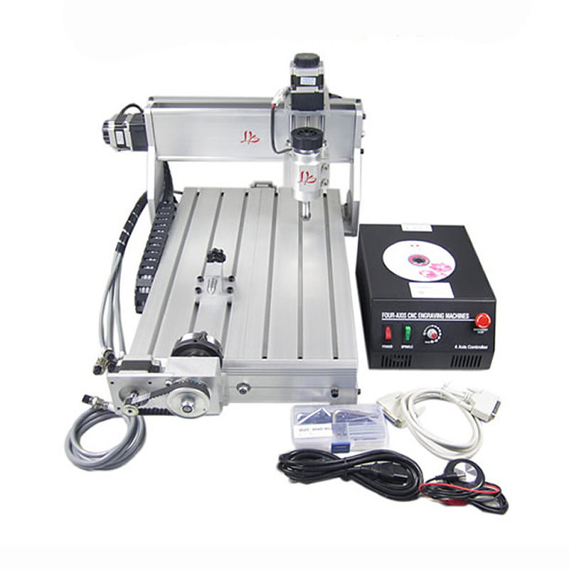 Mini cnc router 3040 Z-DQ 4axis milling drilling machine for personal hobby russia no tax diy 3040 4axis mini cnc router engraving drilling and milling machine for wood metal cutting