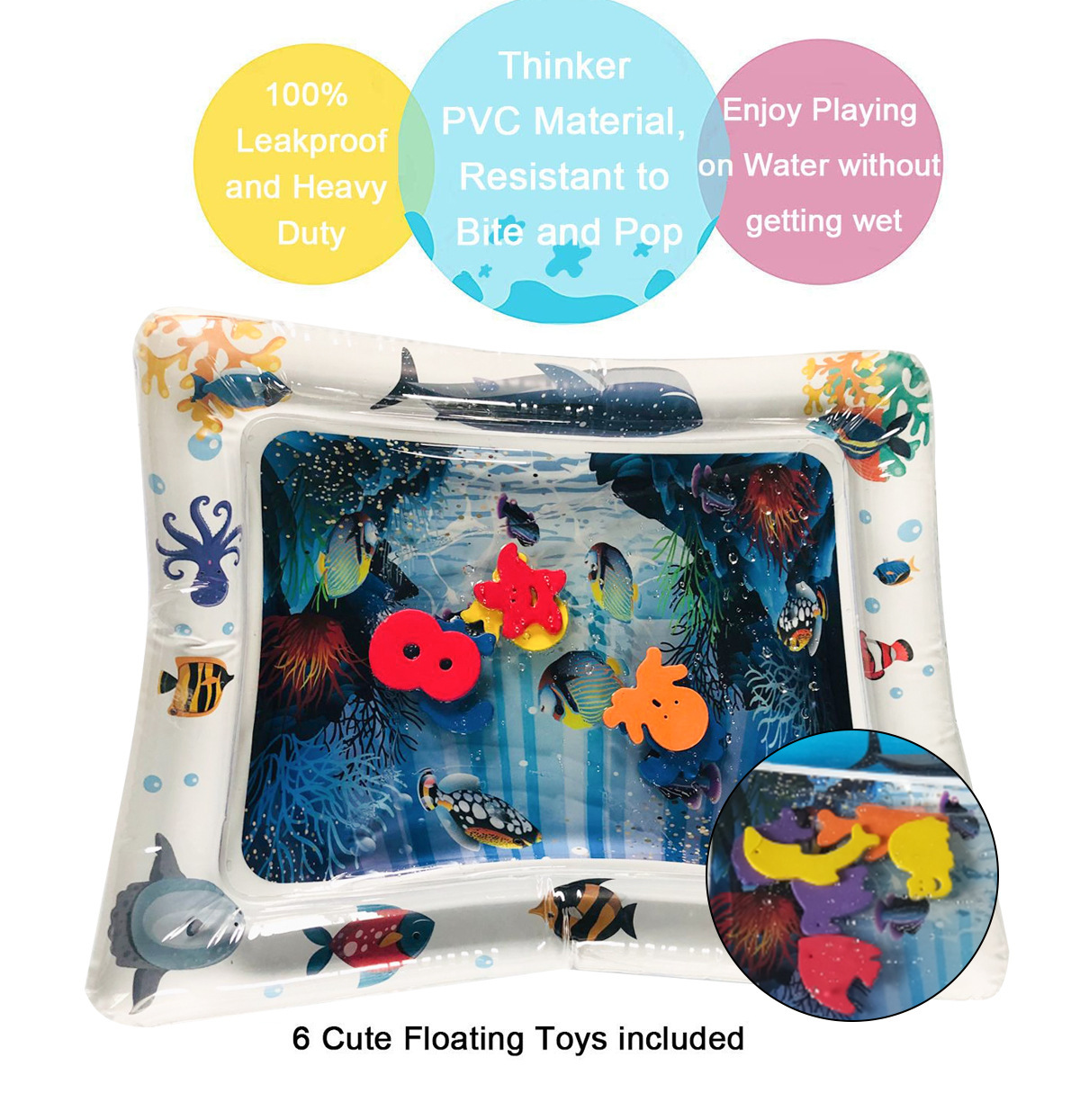 HTB1tRFbMQzoK1RjSZFlq6yi4VXaV 2019 Creative Water Mat Baby Inflatable Patted Pad Baby Inflatable Water Cushion Infant Play Mat Toddler Funny Pat Pad Toys