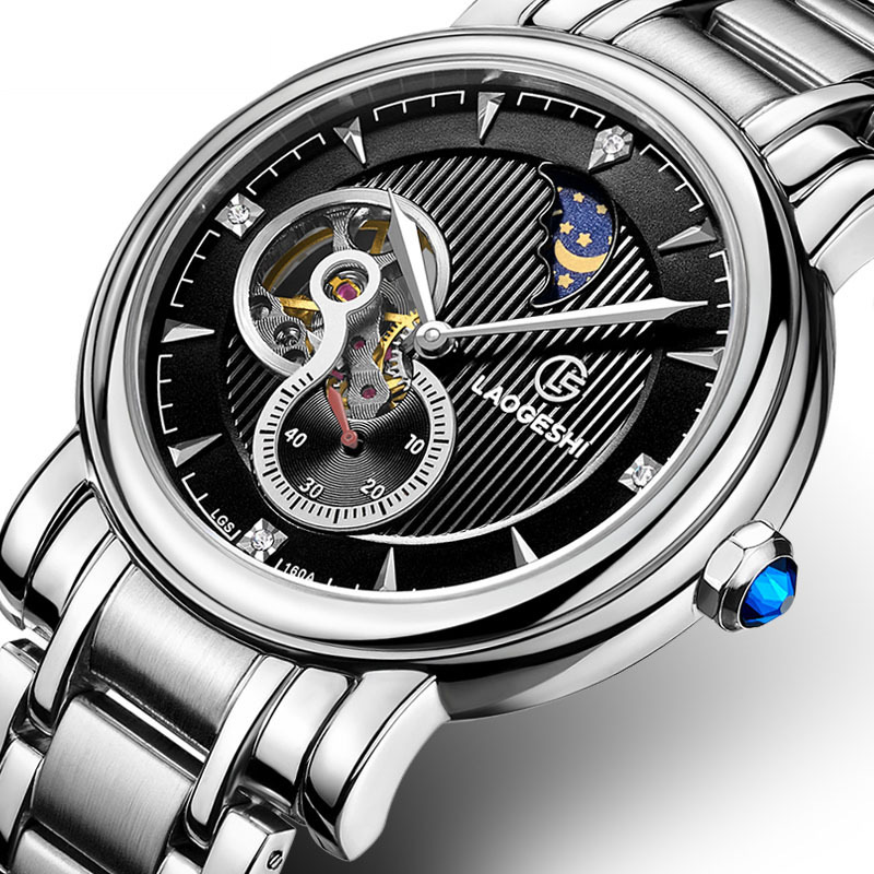 reloj Brand Luxury Men Business Casual Mechanical Watches full stainless steel Watch Military Wristwatch tourbillon Relogio SALE