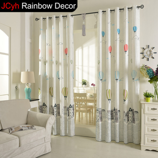 JRD Cartoon Balloon Curtains Kids Blackout Curtains Home Decor Blinds  Living Room Window Treatments Boys Girls