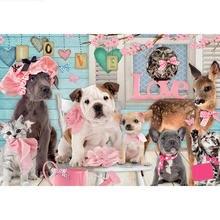 Алмазная 5d картина «сделай сам» с собаками в доме полностью
