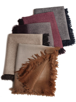 Fine new arts and crafts spray mustard lamb shawl wool scarves