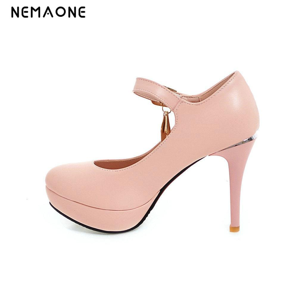 NEMAONE  2017 Fashion Platform Sexy Women Pumps Thin High Heel Shoes Round Toe Ladies Party Shoes Women's Wedding Shoes 11 12 hot sale brand ladies pumps sexy women high heels platform sexy women high heel pumps wedding shoes free shipping 2888 1