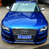 A4 B8 Modified S4 Style Chrome Grey Front Bumper Engine Grill Grids for Audi A4 S4 RS4 Sline 2009 2010 2011 2012