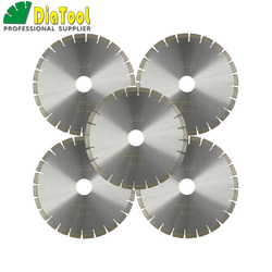 DIATOOL 5 stks 14 inch 370mm Professionele kwaliteit Diamant Stille Zaagbladen natte graniet snijden Disc Boring 60mm sandwich Stalen kern