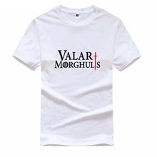 Hot The Game of Thrones men's t-shirt Valar Morghulis letters casual shirt fashion cotton T shirt for men and women tops tees