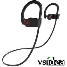 Spor Bluetooth kulaklıklar IPX7 su geçirmez kablosuz kulaklık w/Mic HD Stereo kulak kulakiçi gürültü önleyici kulaklıklar