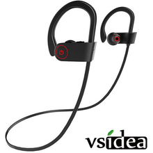 VSIDEA-m Sport Bass Headset Handsfree Earbuds с микрофоном для телефона и музыкальные bluetooth-наушники с активным шумоподавлением