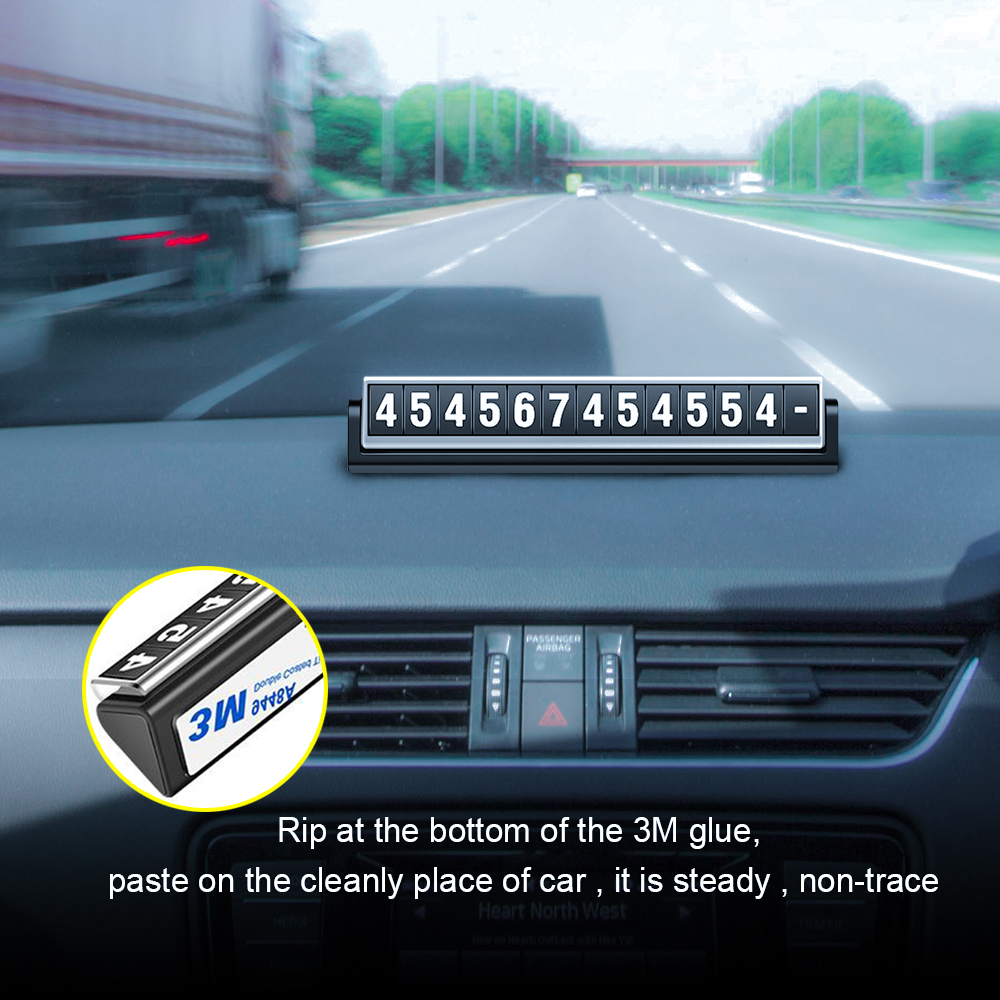 Rylybons Temporary Car Parking Card Rotatable Night Luminous 3M Glue Phone Number Card Car Styling Telephone Number Card Sticker puzzle temporary car parking card telephone number card notification sucker plate car styling phone number card accessories